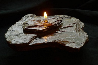 Single - Double Layer-Grey Rock Candle