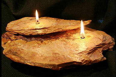 Two Double Layer - Brown Rock Candle