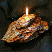 Single Wick Cap Fire Rock